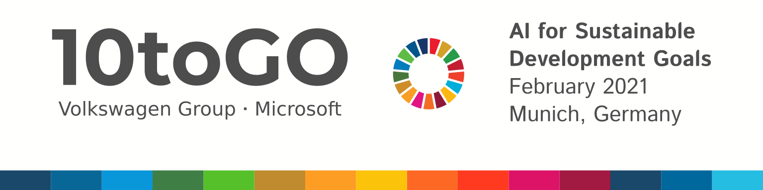 10toGO: AI for the Sustainable Development Goals